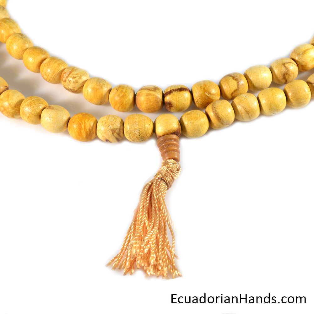 Japa Mala Necklace 108ct palo santo prayer beads (1 unit)