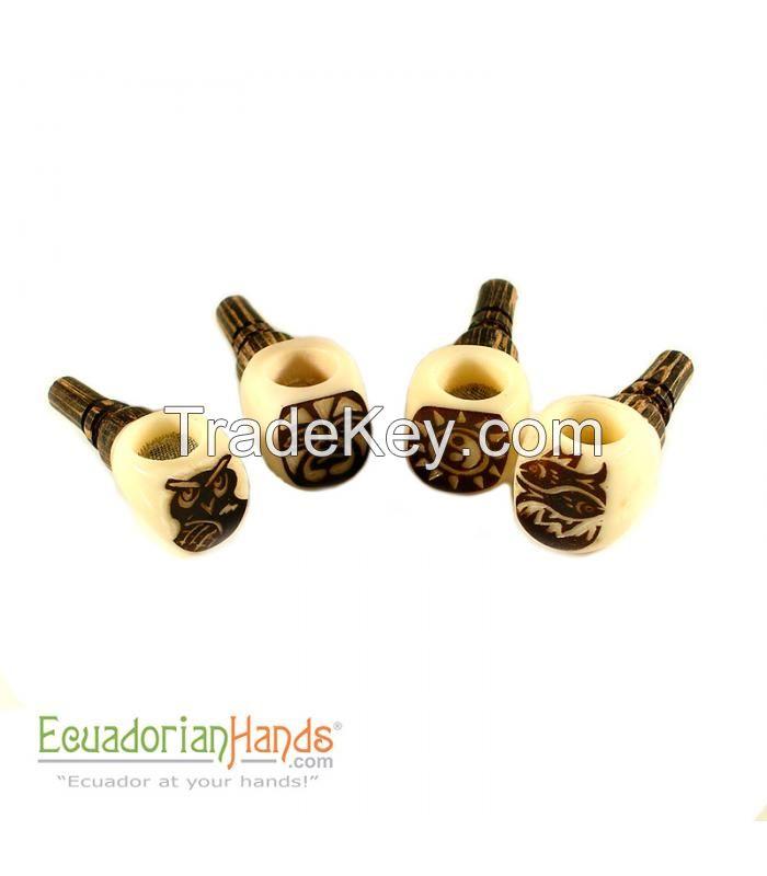 125 Handmade Smoking Pipes, Eco Ivory Tagua, Standard