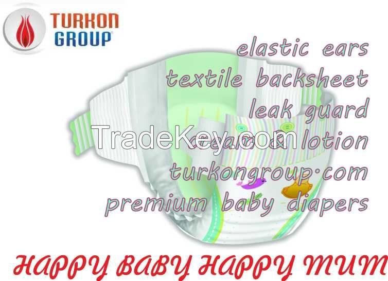 Premium Baby Diapers Medium Size