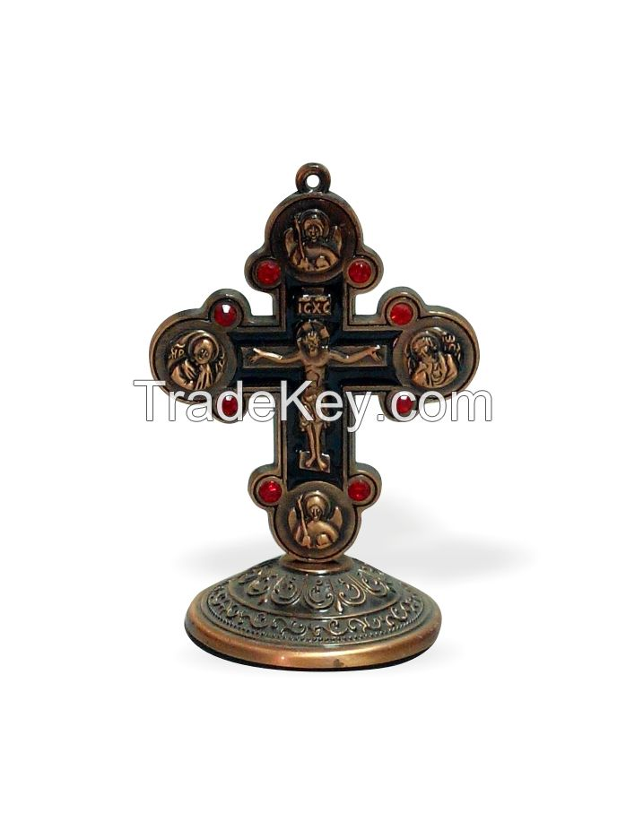 Religous bronze Crucifix for Car decorations