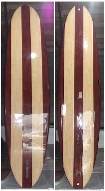Wood veneer Surfboard