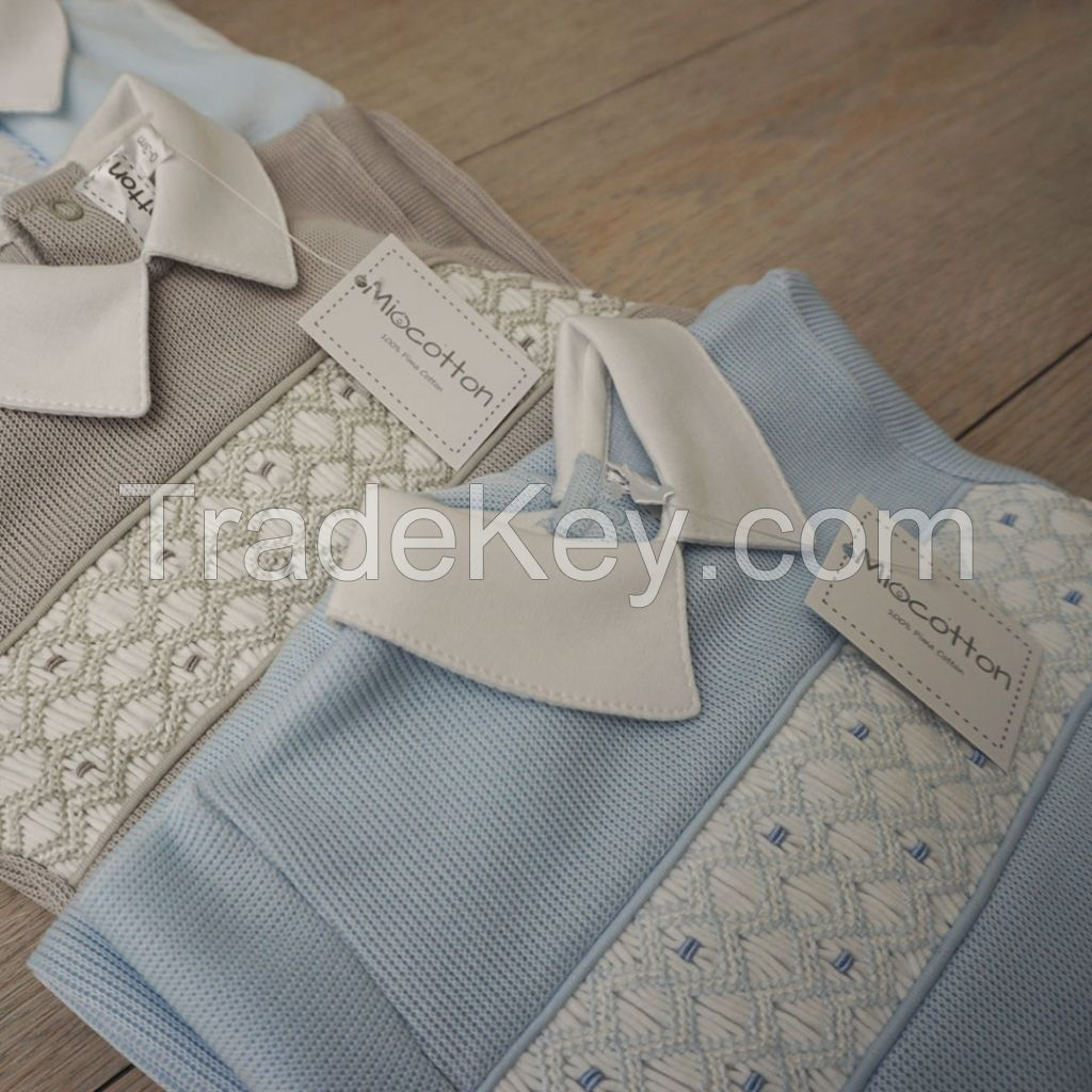 Hand Smocked baby clothes, newborn baby clothing MIO-10001