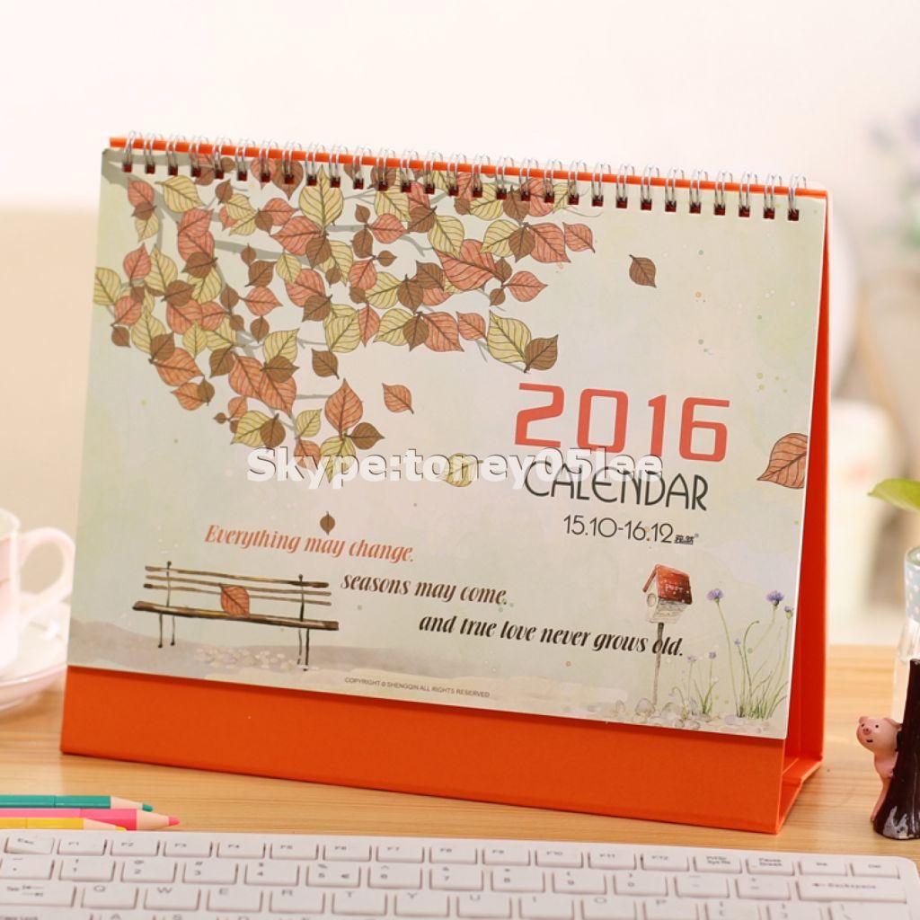 wall calendar, table calendar, desk calendar, Custom table calendar/desk calendar/wall calendar printing, Full color printing special paper printing promotional desk calendar