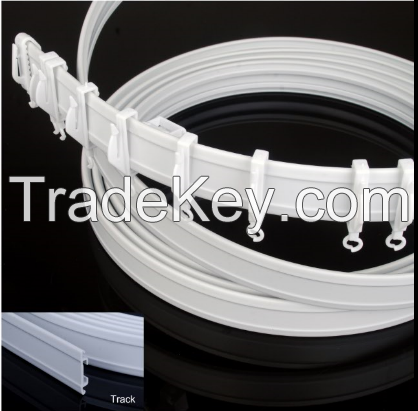 PVC curved rod, PVC curved track, PVC flexi net rod