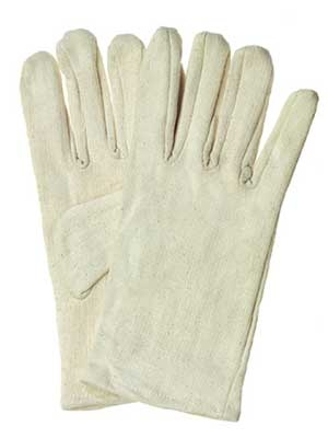 COTTON JERSEY GLOVES NATURAL COLOR GRAY