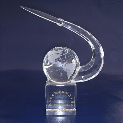 crystal  awarding cups