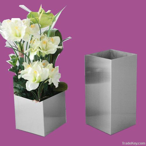 Highly-brighted Stainless steel flower vase or pot