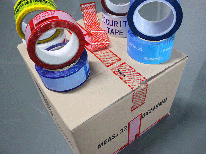 Tamper Evident Security Tapes and Seals For Box Sealing