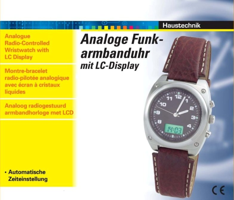 Stainless Steel Analogue Digital Radio-Controlled Wristwatch