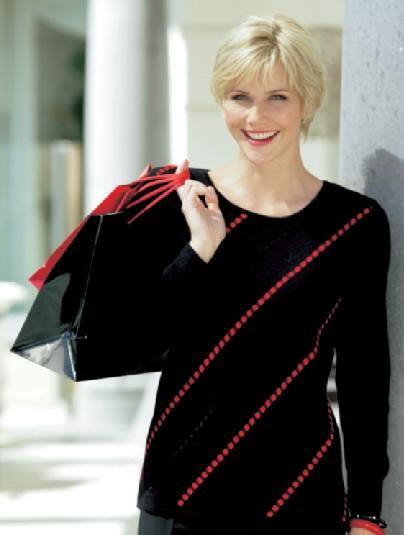 woman out wearing by knitting and ready clothing