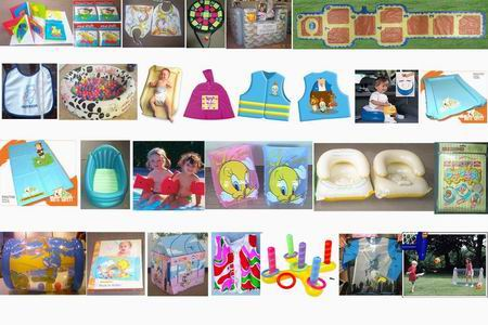 baby toys and bathroom book and inflatable bed bath and seat ring