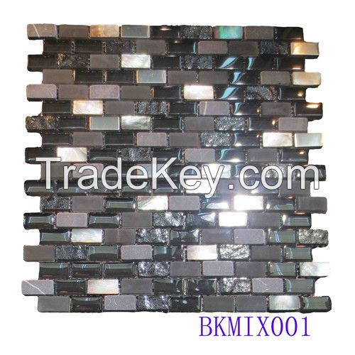 Mixed Shell Mosaic Glass