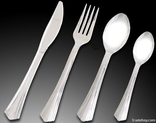 Reflection Plastic Silver Cutlery