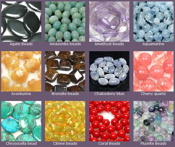 gemstone beads and semi precious stone beads