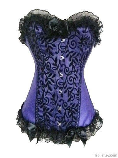 black lace up corset