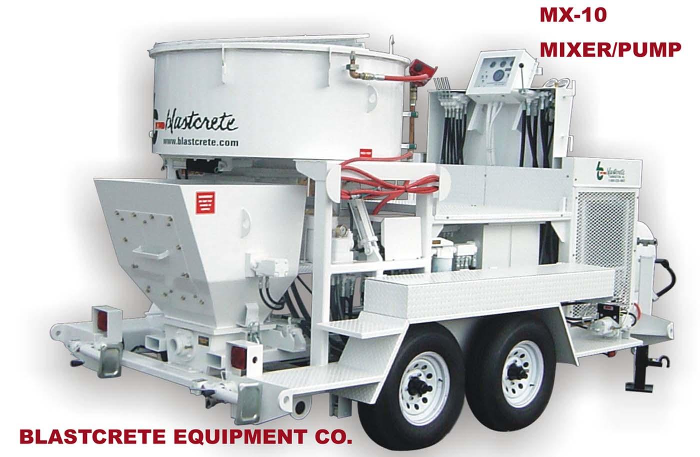 MX-10 Refractory spraying mixer/pump