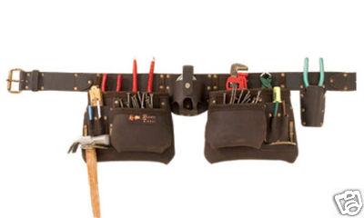 11 Pocket Oil Tan Full Grain Leather Tool Belt / Tool Bag