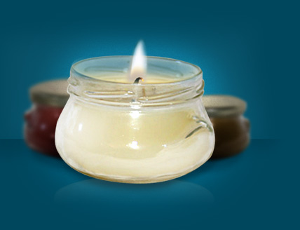 Triple scented, hand poured jar candles
