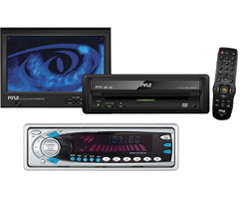 """In-Dash 6.5"""" Monitor with DVD/Cassette Player and AM/FM/TV Tuner"""