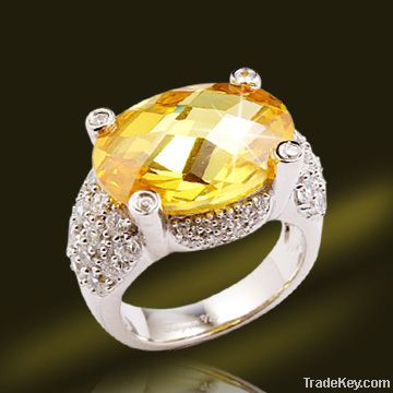 925 silver ring, settng with Topaz stone