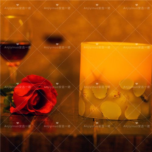 Holiday Ivory Rustic Flameless Scented LED Candle