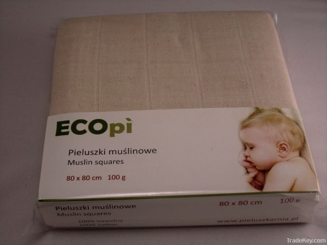Muslin Square Unbleached Cotton Nappies