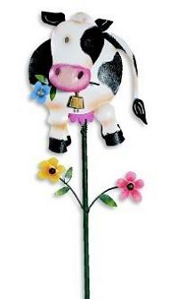 Garden Stakes-Wacky cow