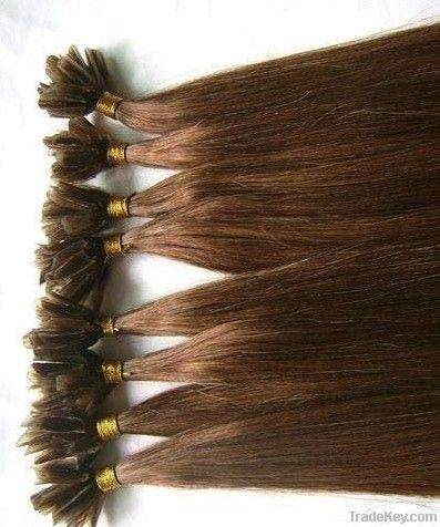 Keratin Indian remy hair pieces extensions