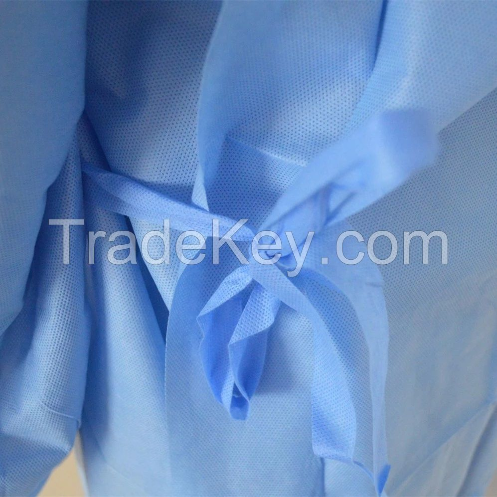 disposable non woven isolation gown PP isolation gowns aprons nonwoven TNT isolation gowns