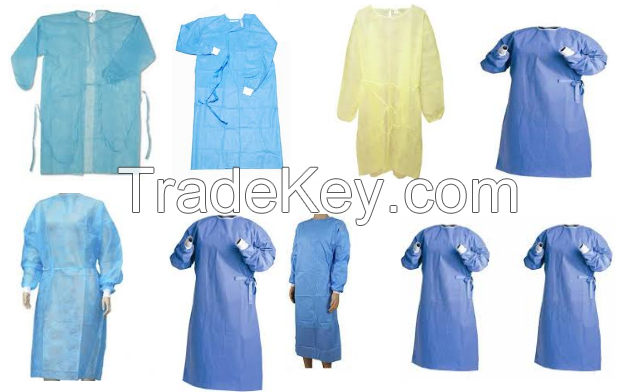Knitted Fabric Customized Disposable Sterilization Operation Reinforcement Surgical Gown sms reinforcement surgical gown