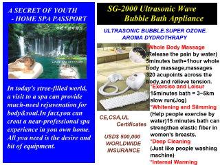 Ultrasonic Wave Bubble Bath Appliance