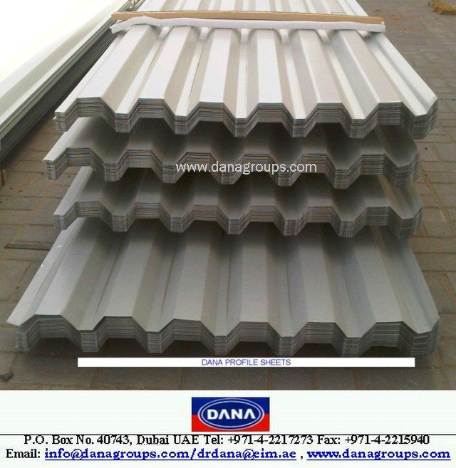 CHAD- ALUMINUM/GI SINGLE SKIN PROFILED ROOFING SHEET - DANA STEEL