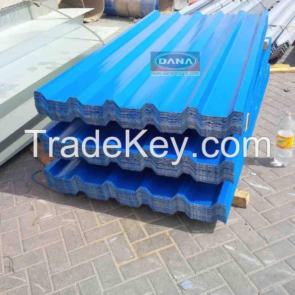 Aluminum roofing sheets  , Aluminum corrugated sheets , profiles , claddings in UAE , Saudi Arabia