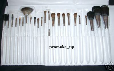 23 pcs Beauty Cosmetic Make up Brushes Set w Leather Like Case