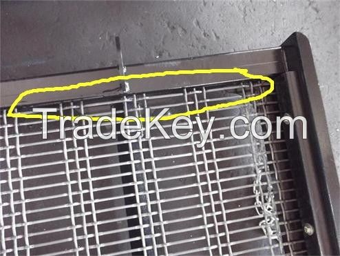high tensile spring steel woven wire screen media