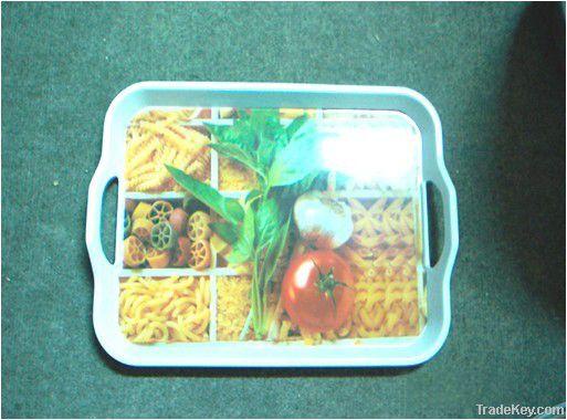 Rectangular Melamine Serving Tray Set_3 sizes, Decal Available