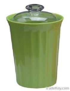 Melamine Storage Canister with PS lid_4sizes available, any color.