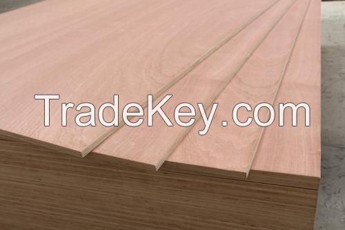 Bintangor Marine Plywood 3mm 4mm , Okoume Plywood for Furniture, Comme
