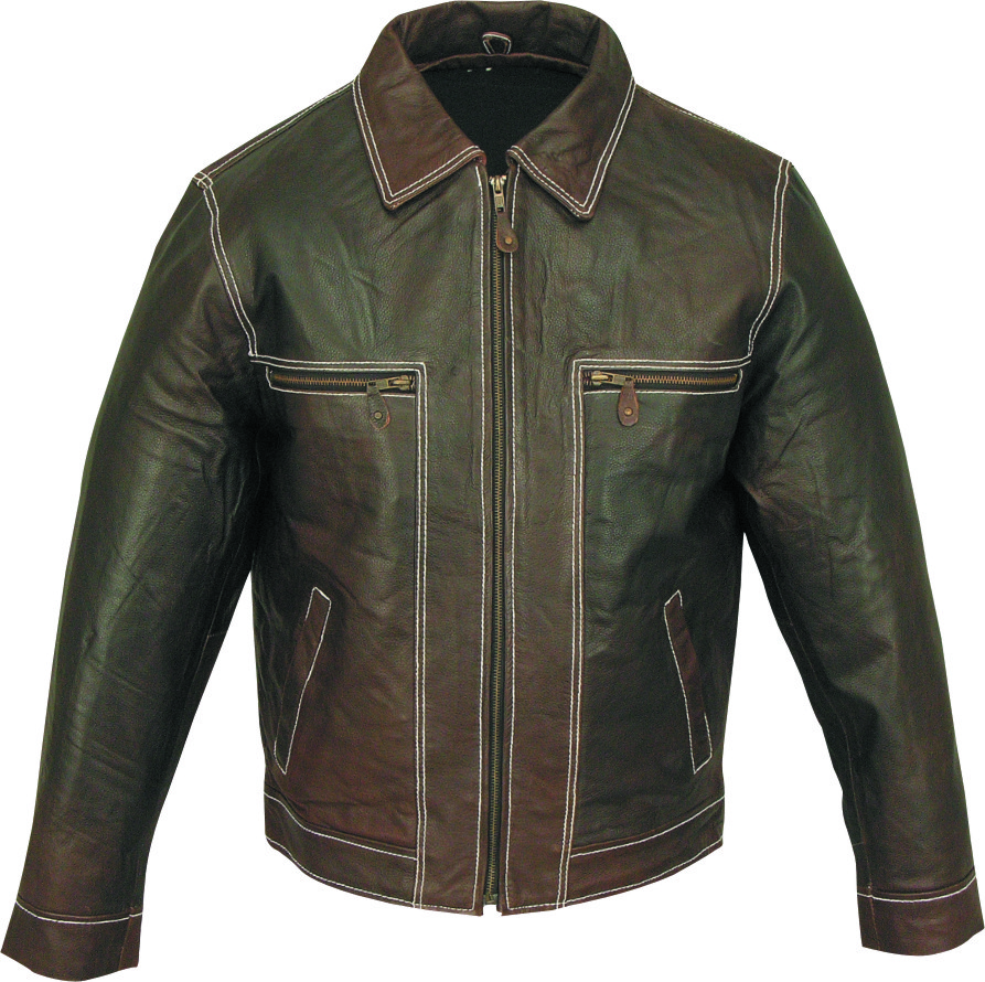 Colorida Black or Brown Leather Jacket