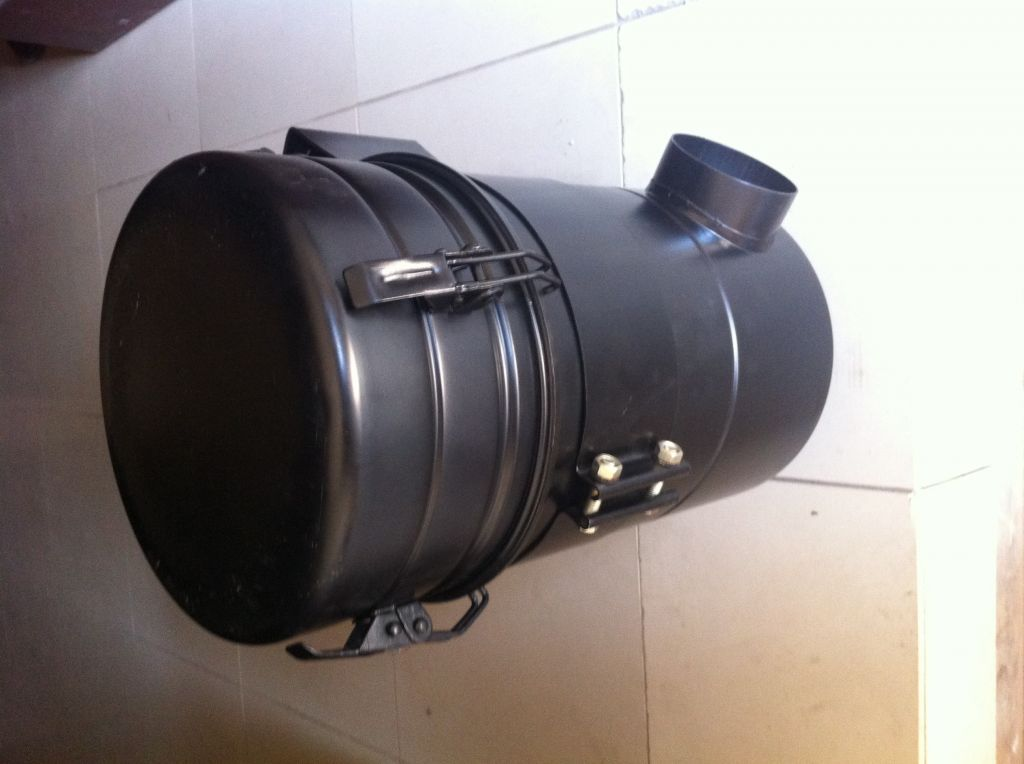 Air cleaner, front grill, diesel tank, etc