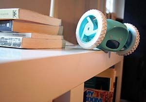 Clocky, the Original Runaway Alarm Clock on Wheels (Loud for Heavy Sleepers, Fun Rolling Moving Clock)