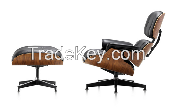 Modern Furniture Design Genuine Leather Emes Lounge Chair Pony Skin Lounge Chair With Ottoman Charles Lounge chair
