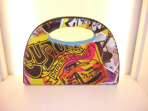 Hand bag 100% pvc with assorted prints