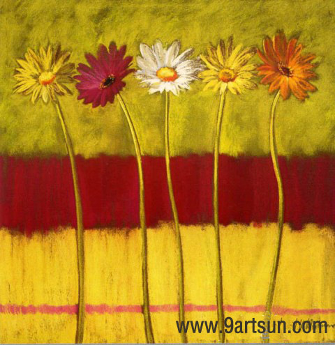 Handmade Abstract Oil Painting on Canvas-flower