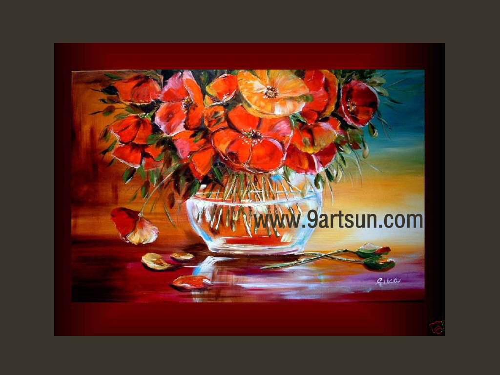 Handmade Still Life Oil Painting On Canvas