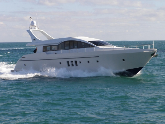 Powerboats, luxury yachts built in lightweight marine grade aluminium