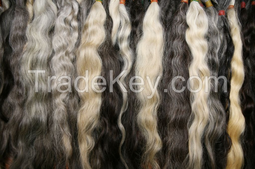 Uzbek 100% Natural gray hair bulk