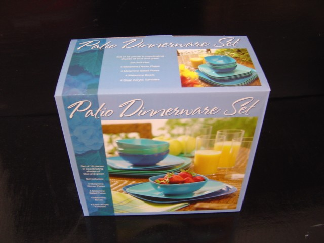 Melamine 16 pc dinner set, Acrylic tumblers, kitchenware 4000 items