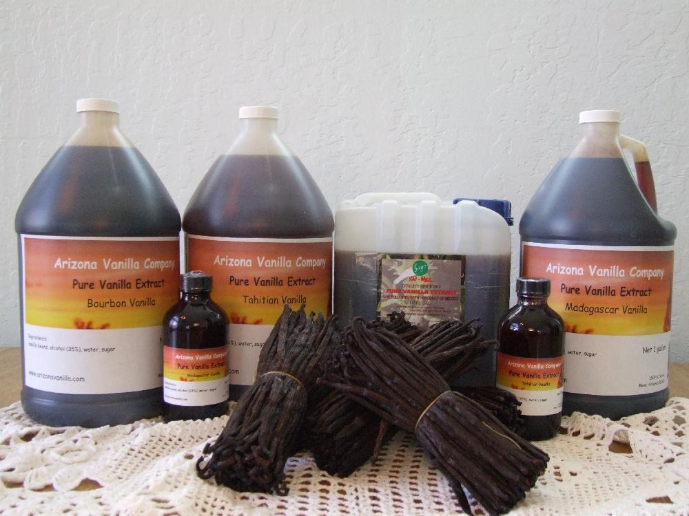 Vanilla Beans, Vanilla Extract, Ground Vanilla
