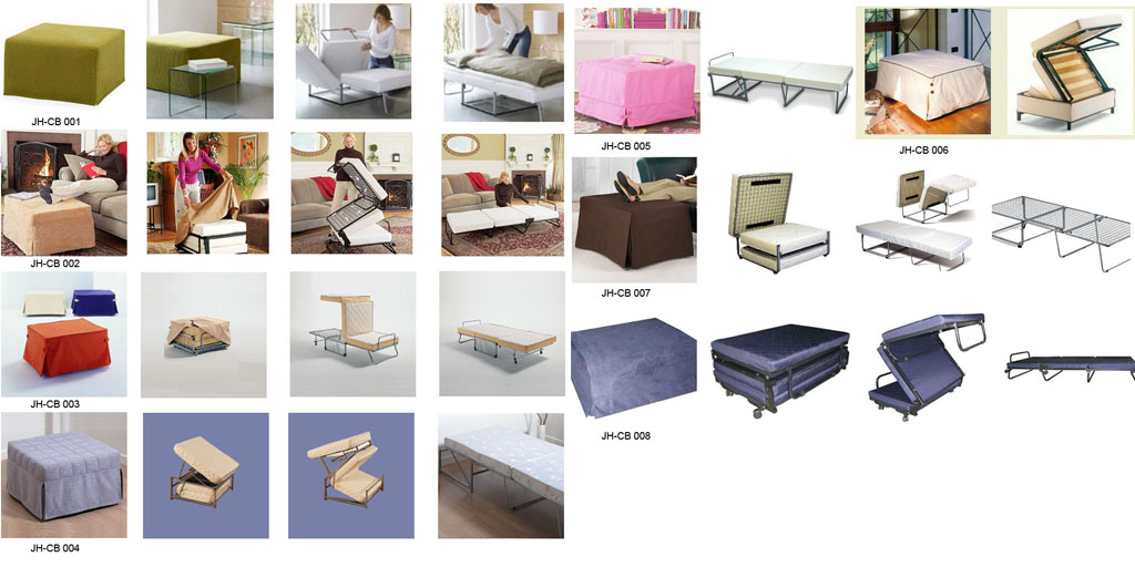 bedroom furniture-fold up ottoman beds